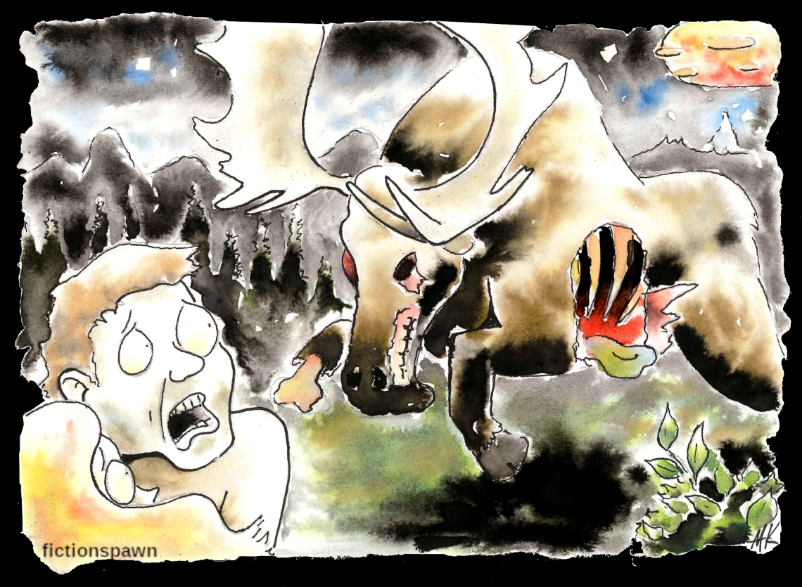 Zombie Moose Aak fictionspawn
