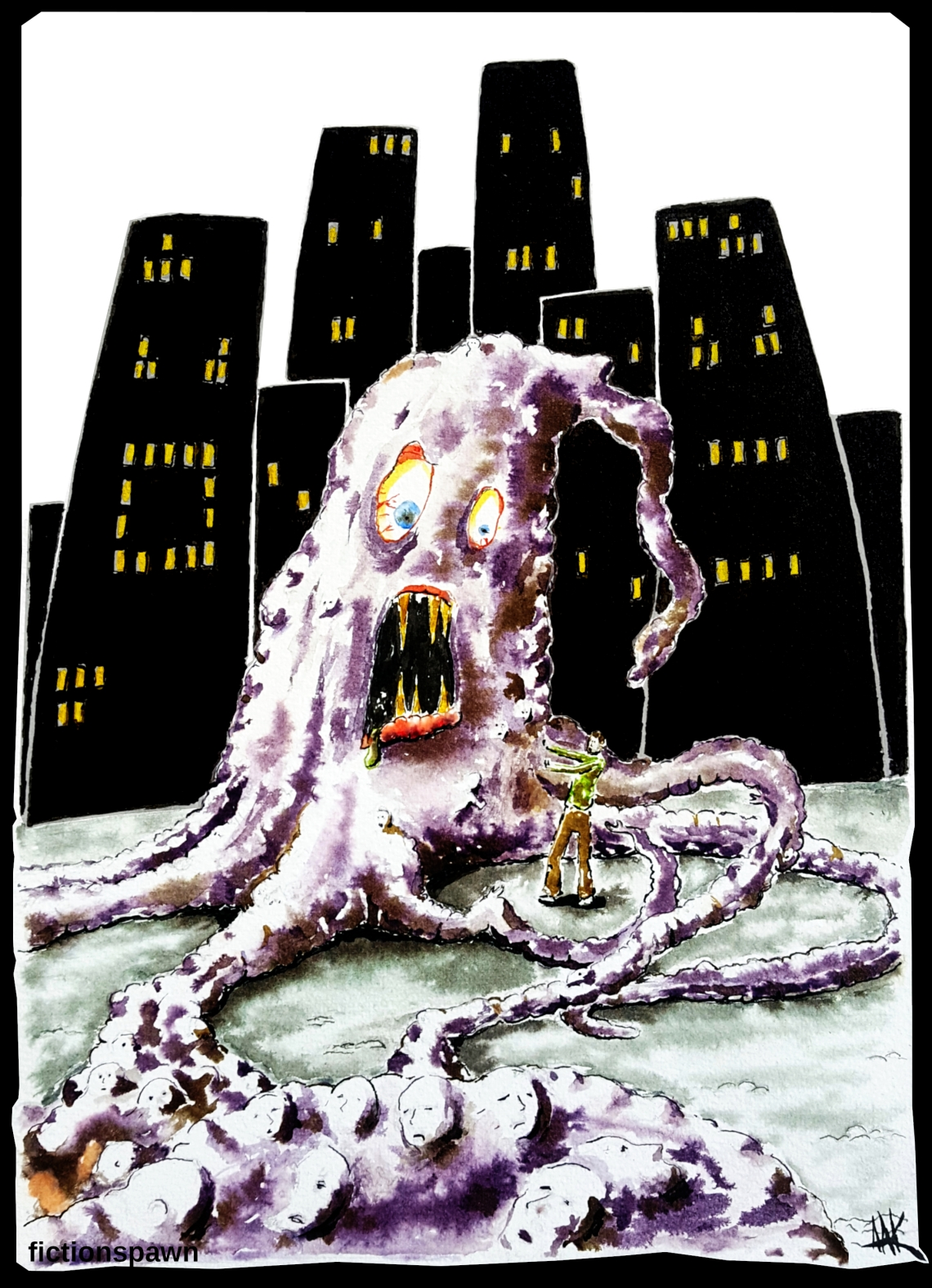 Dark city monster Aak fictionspawn