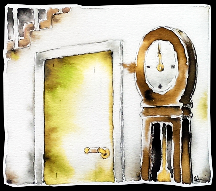 The Grandfather Clock By The Basement Door