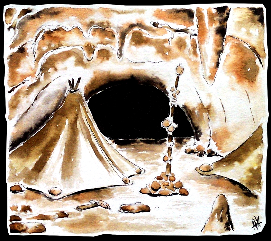 Tent in a tunnel. Aak fictionspawn