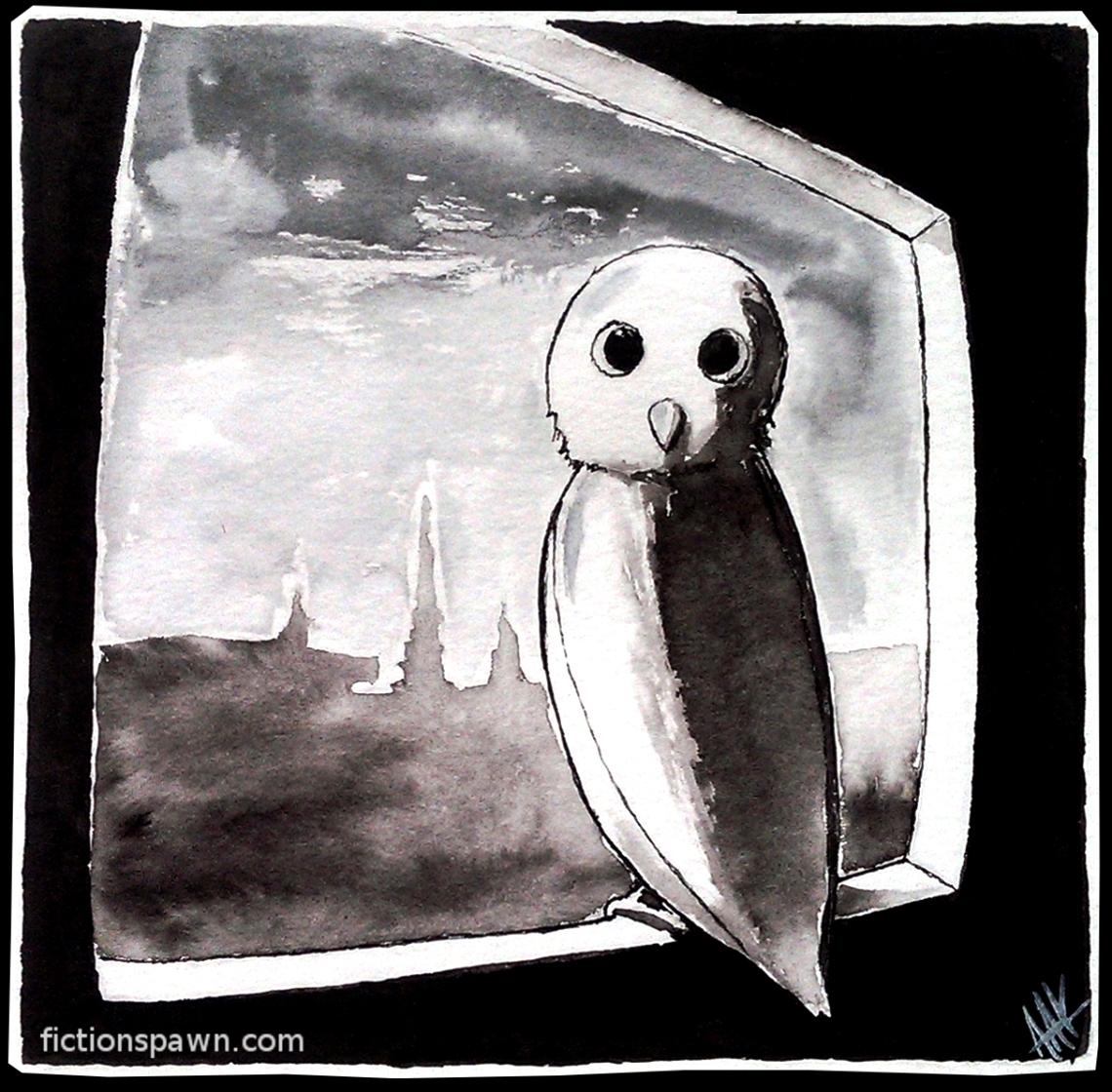 Owl in the Window. Aak fictionspwn