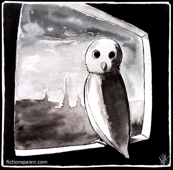 Owl in the Window. Aak fictionspwn