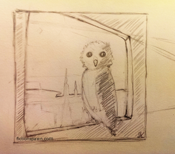 Sketch of an owl. Aak fictionspawn