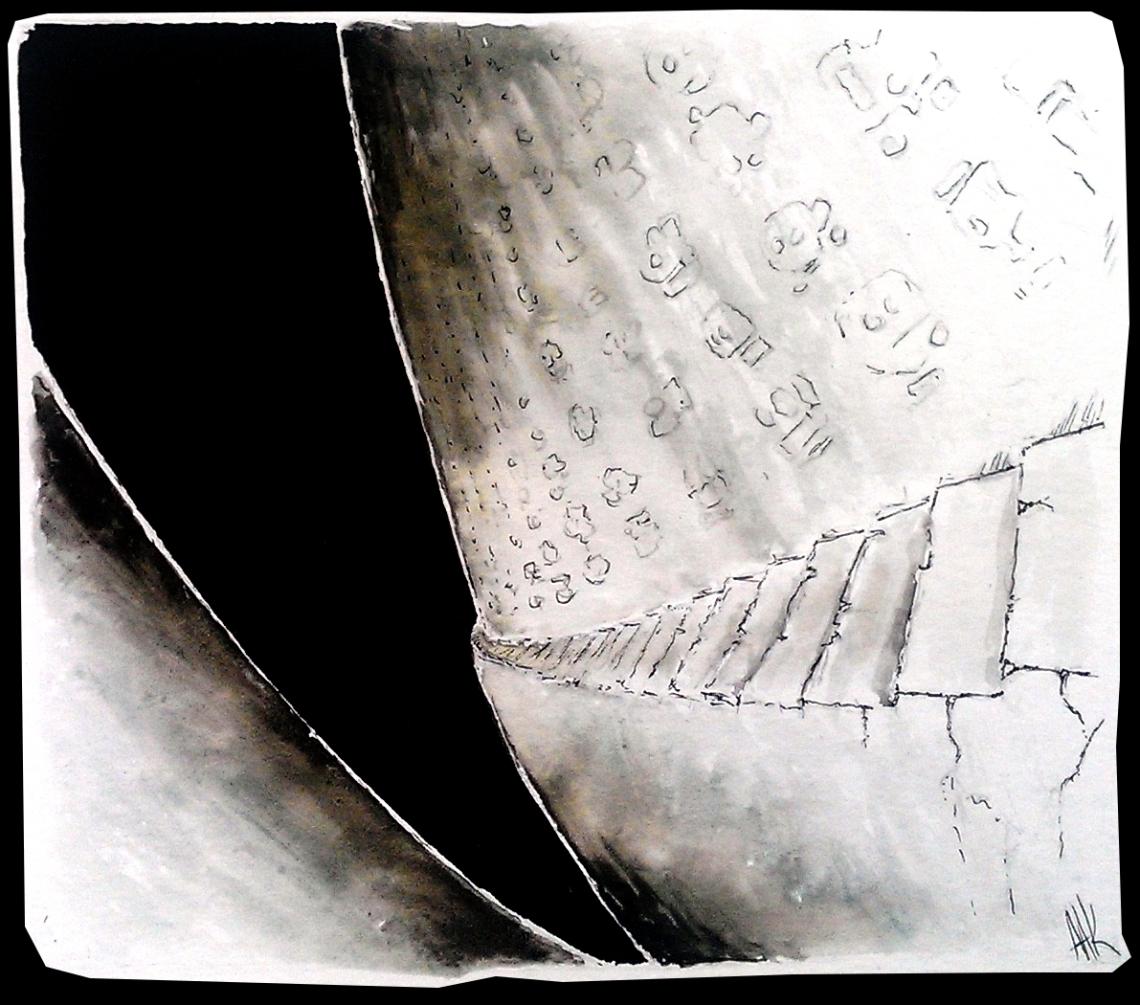 stairway to darkness. Hieroglyfs