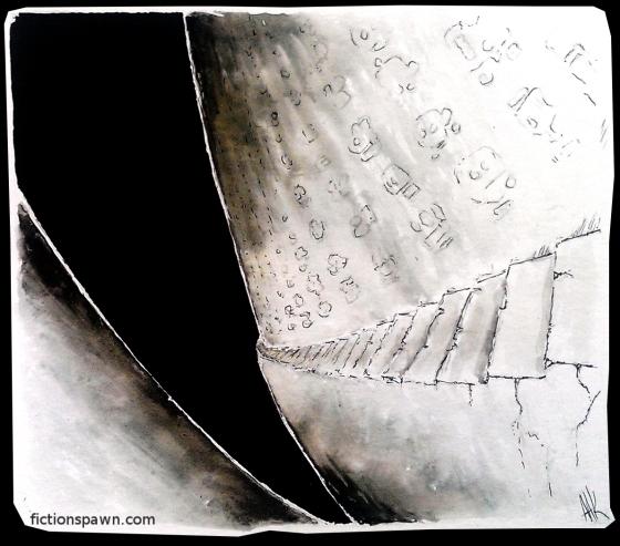 Stairway into darkness. Hieroglyfs