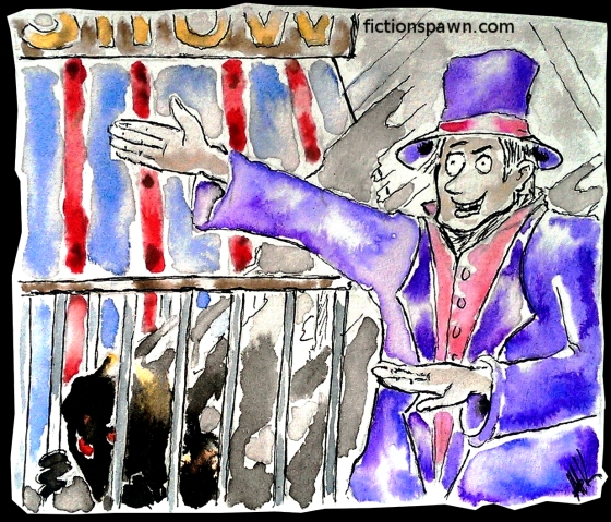 A circus with a monster fictionspawn.com