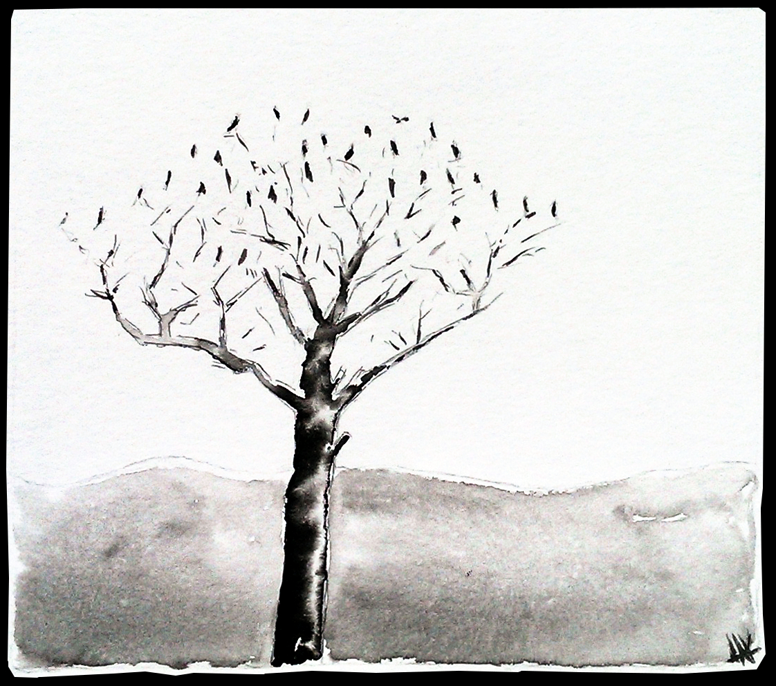 Crows in a tree. Aak fictionspawn