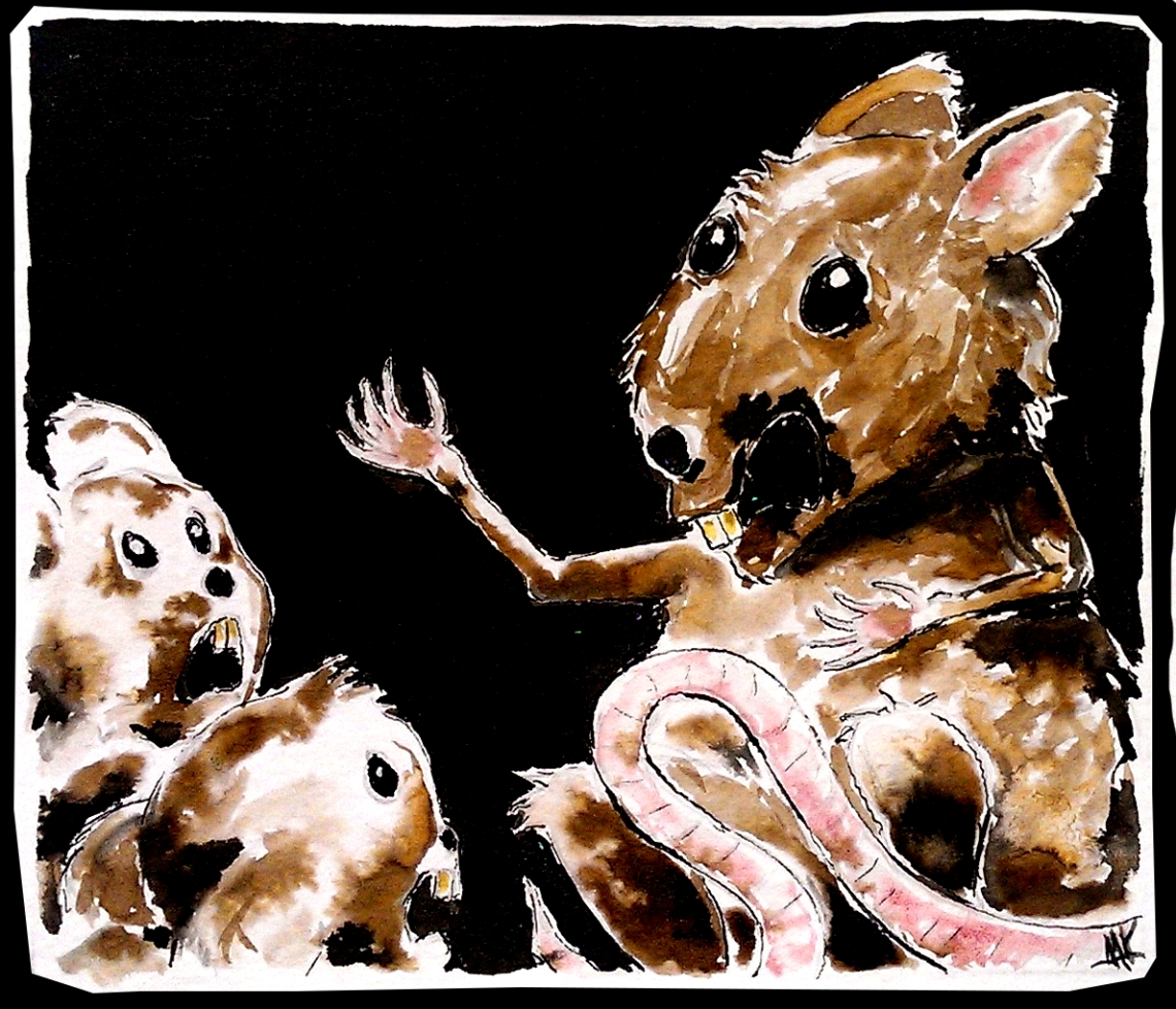 Rat grandpa and children. Aak fictionspawn