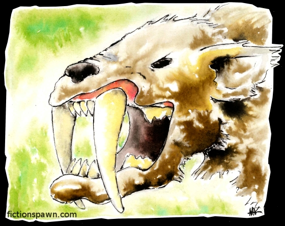 Saber tooth cat. Aak fictionspawn