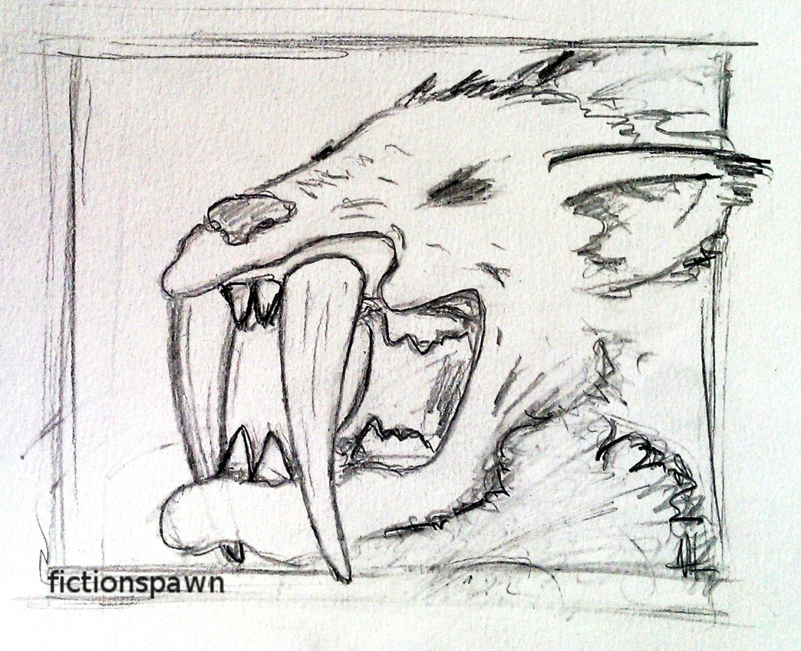 Saber toothed cat. Aak fictionspawn