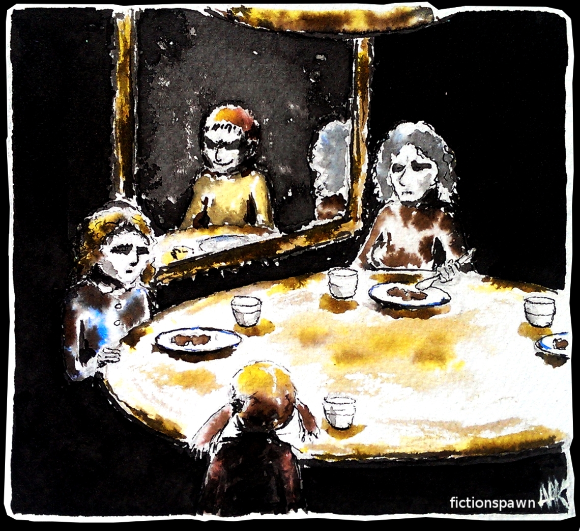 Family supper in darkness Aak fictionspawn