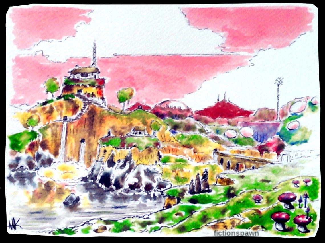 Fantasy Landscape, Aak fictionspawn