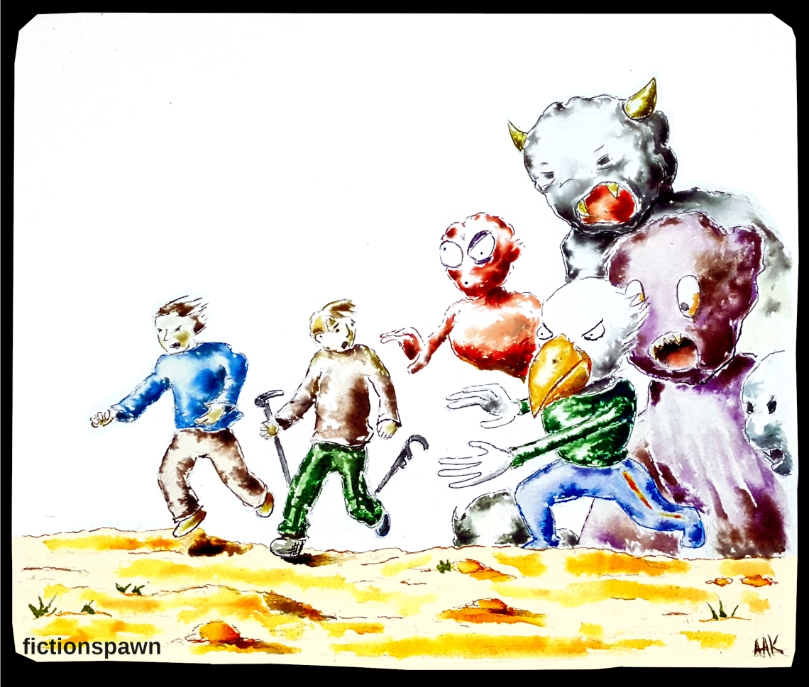 Boys running from monsters Aak fictionspawn