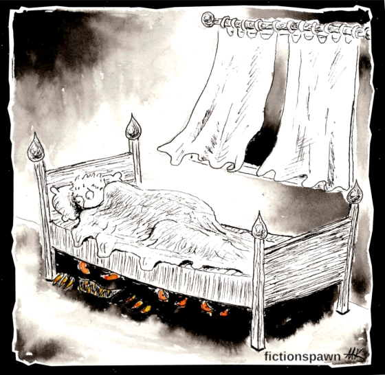Monsters under the bed Aak fictionspawn