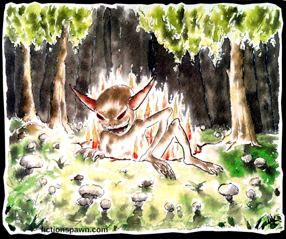 Mushroom circle Demon Aak fictionspawn