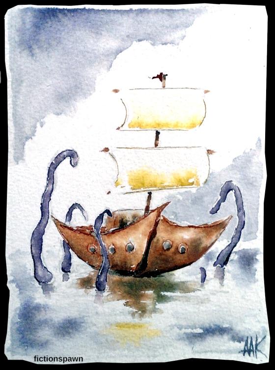 Tentacles attacking a sailboat Aak fictionspawn