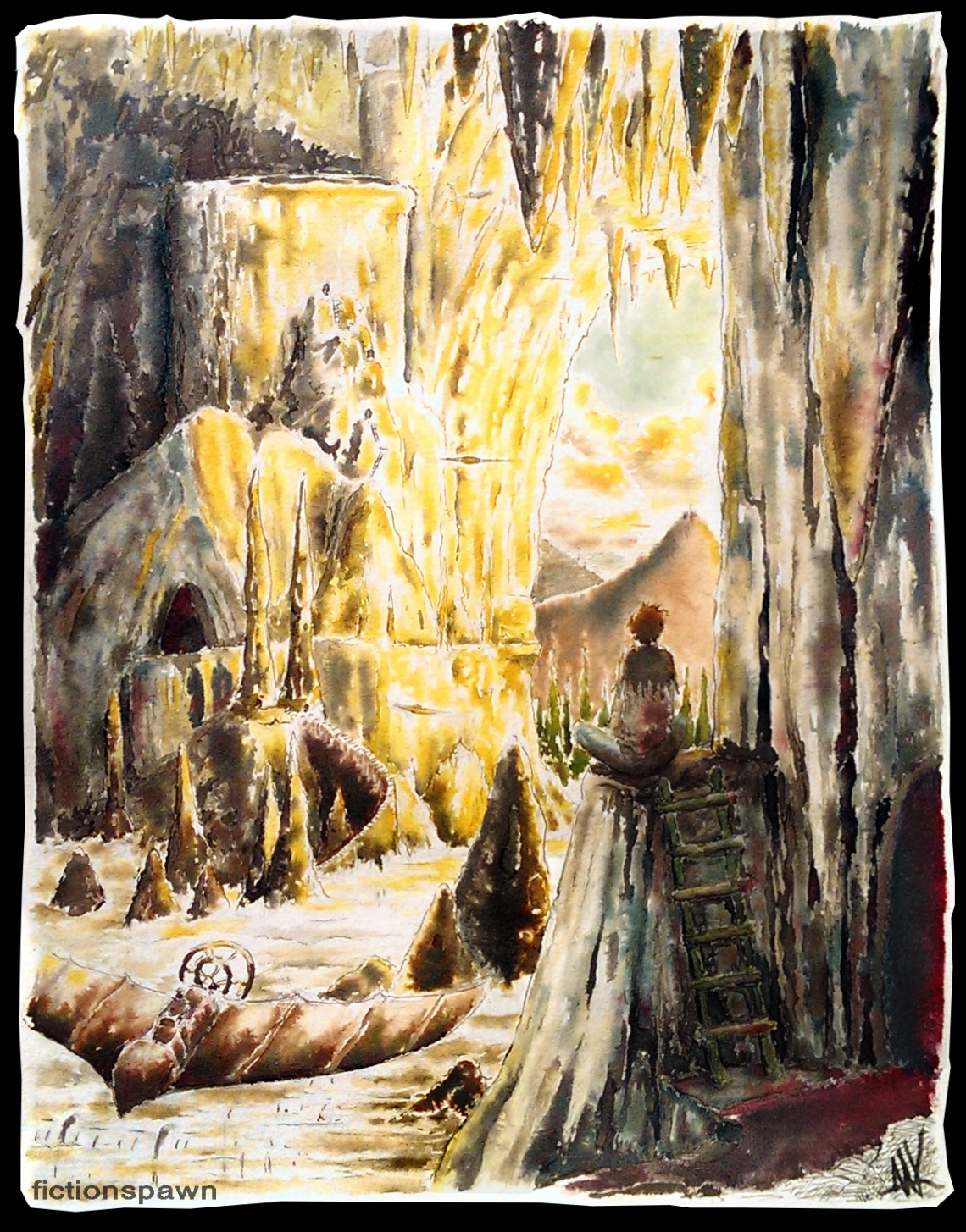 Swift planes in a giant cave. Aak fictionspawn