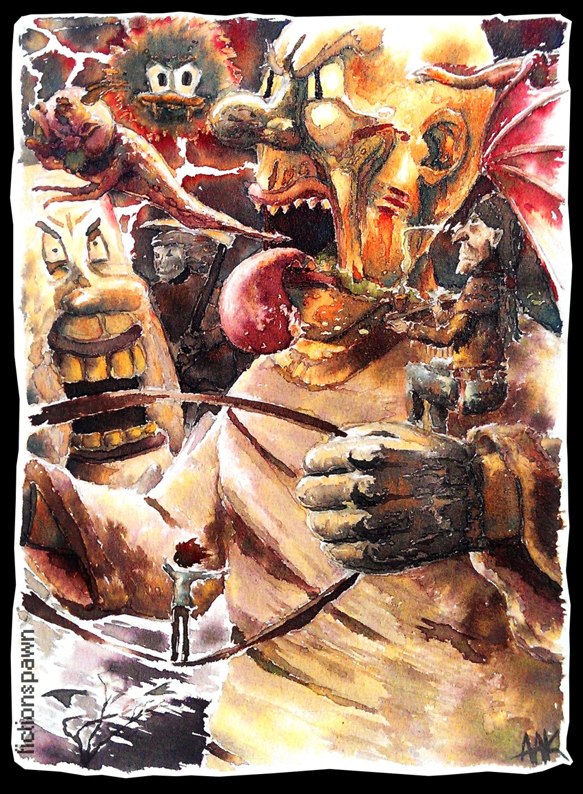 A man riding through a nightmare Aak fictionspawn