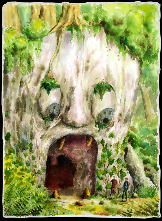 A rock face in the jungle. Aak fictionspawn