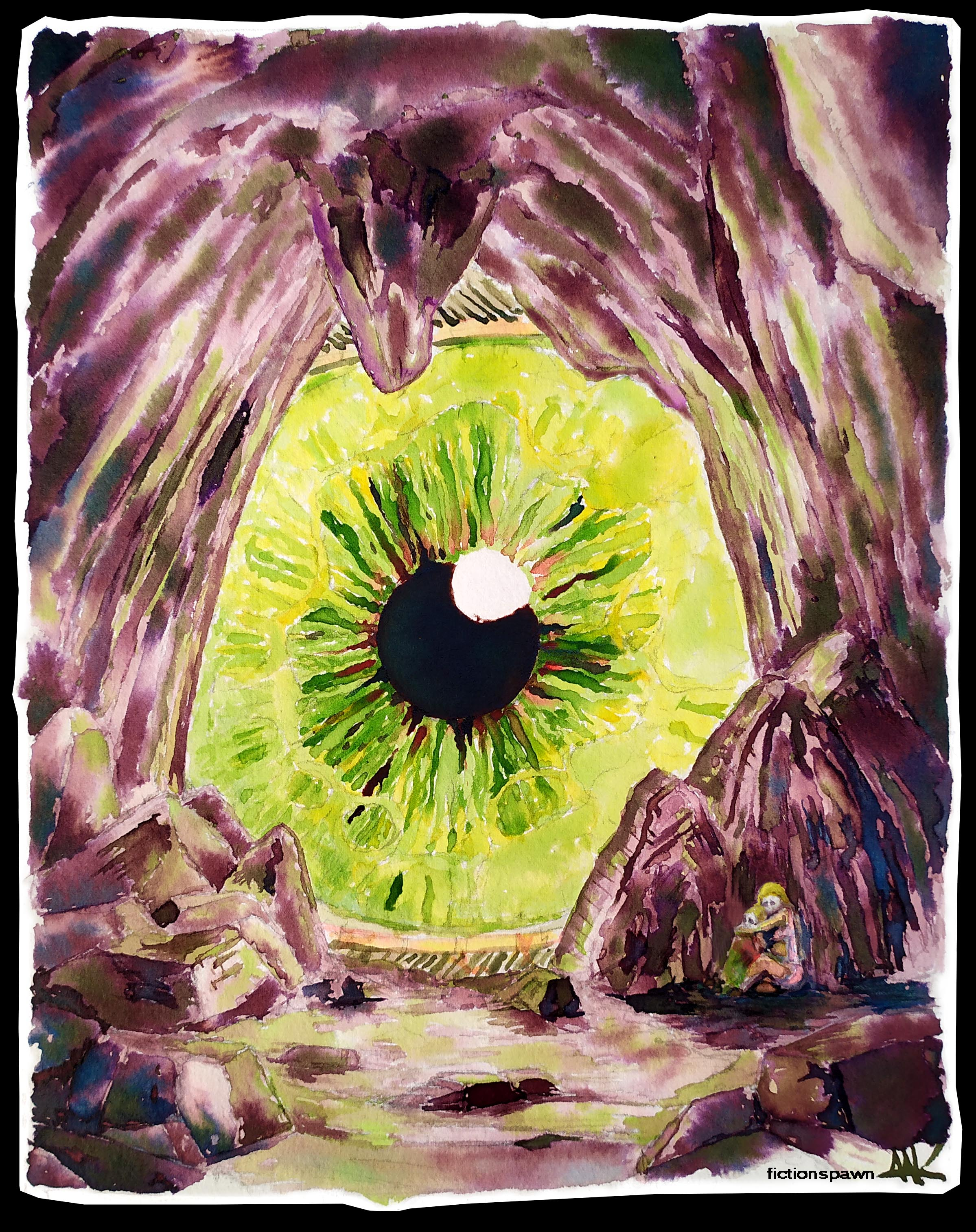 An eye and a cave Aak fictionspawn