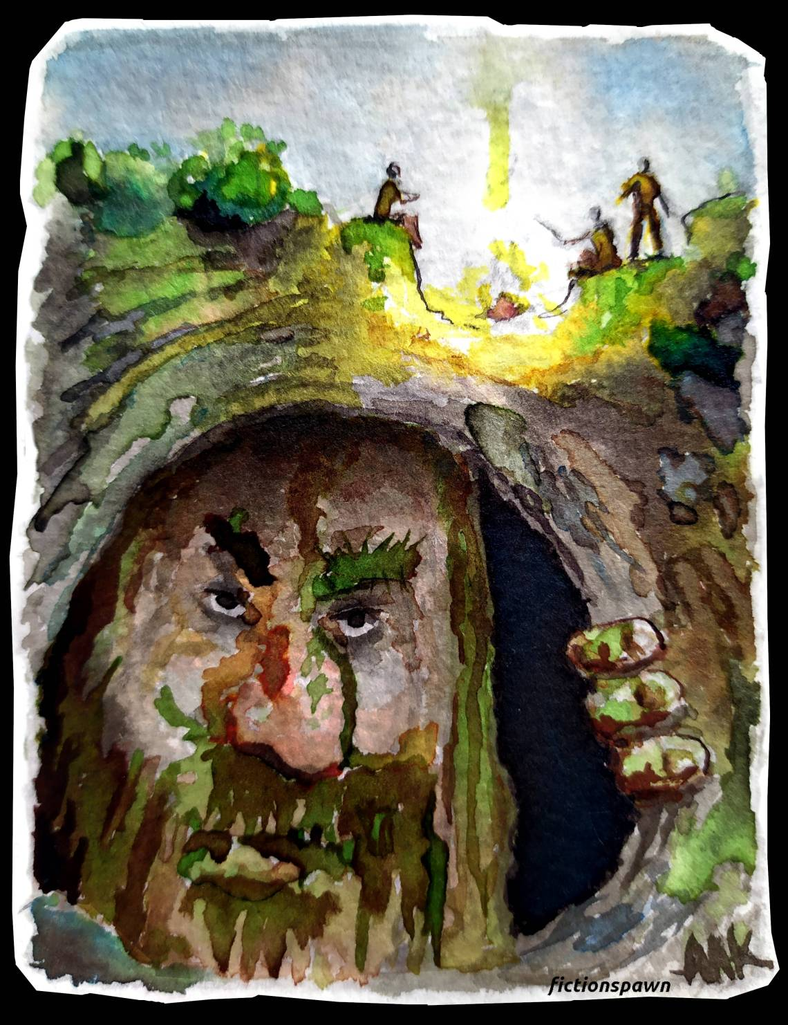 A troll listening to a bondfire story fictionspawn Aak