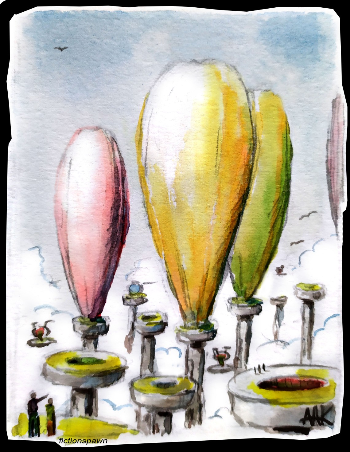 Field of baloons. fictionspawn Aak